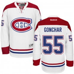 Adult Montreal Canadiens Sergei Gonchar Reebok White Authentic Away NHL Jersey