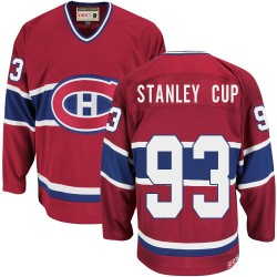 Adult Montreal Canadiens Stanley Cup CCM Red Premier Throwback NHL Jersey
