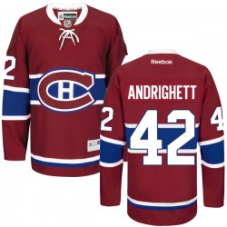 Adult Montreal Canadiens Sven Andrighetto Reebok Red Premier Home NHL Jersey