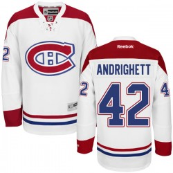 Adult Montreal Canadiens Sven Andrighetto Reebok White Premier Away NHL Jersey