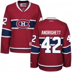 Women's Montreal Canadiens Sven Andrighetto Reebok Red Authentic Home NHL Jersey