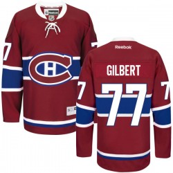 Adult Montreal Canadiens Tom Gilbert Reebok Red Authentic Home NHL Jersey