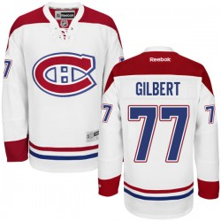 Adult Montreal Canadiens Tom Gilbert Reebok White Authentic Away NHL Jersey