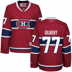 Women's Montreal Canadiens Tom Gilbert Reebok Red Premier Home NHL Jersey