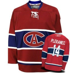 Adult Montreal Canadiens Tomas Plekanec Reebok Red Authentic New CA NHL Jersey