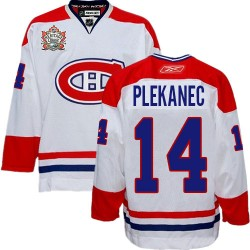 Adult Montreal Canadiens Tomas Plekanec Reebok White Authentic Heritage Classic NHL Jersey