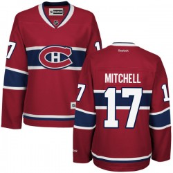 Women's Montreal Canadiens Torrey Mitchell Reebok Red Premier Home NHL Jersey