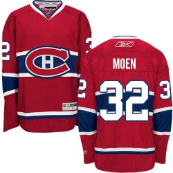 Adult Montreal Canadiens Travis Moen Reebok Red Authentic Home NHL Jersey