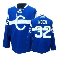 Adult Montreal Canadiens Travis Moen Reebok Blue Authentic Third NHL Jersey