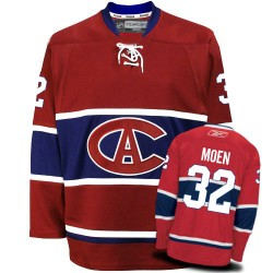 Adult Montreal Canadiens Travis Moen Reebok Red Premier New CA NHL Jersey